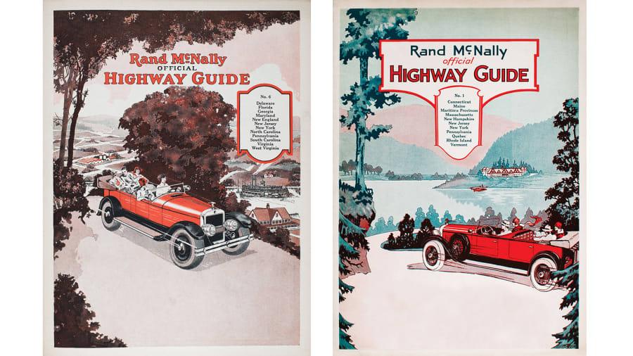rand mcnally road atlas 1927 and 1928