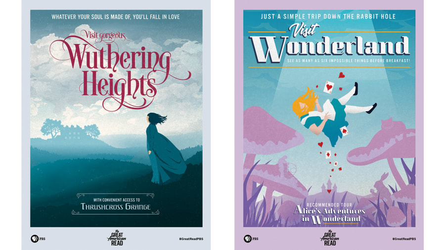 Visit Wuthering Heights: Classic Novels Transformed Into Vintage Travel Posters by Tamara Hardingham-Gill for CNN Travel