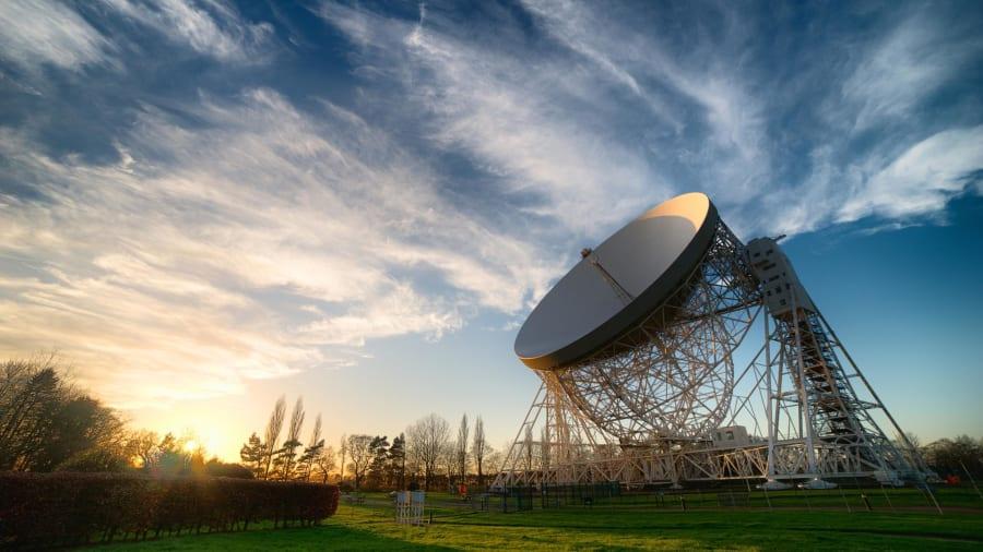 The Lovell Telescope at Jodrell Bank Observatory, UK