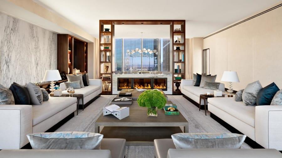 park hyatt sky suite living room
