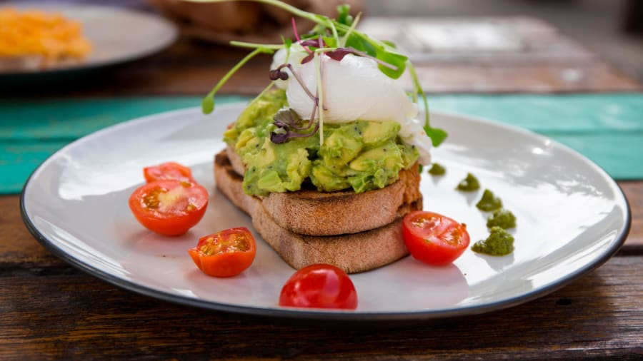avocado toast poached eggs RESTRICTED