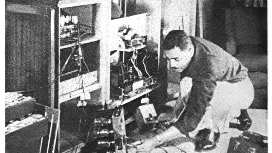 Ronald Mallett-Father repairing TV
