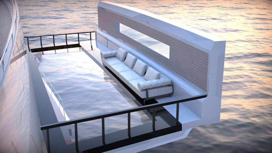 Saturnia-superyacht-concept --- exterior-rendering-tarracë --- Lazzarini-design-studio