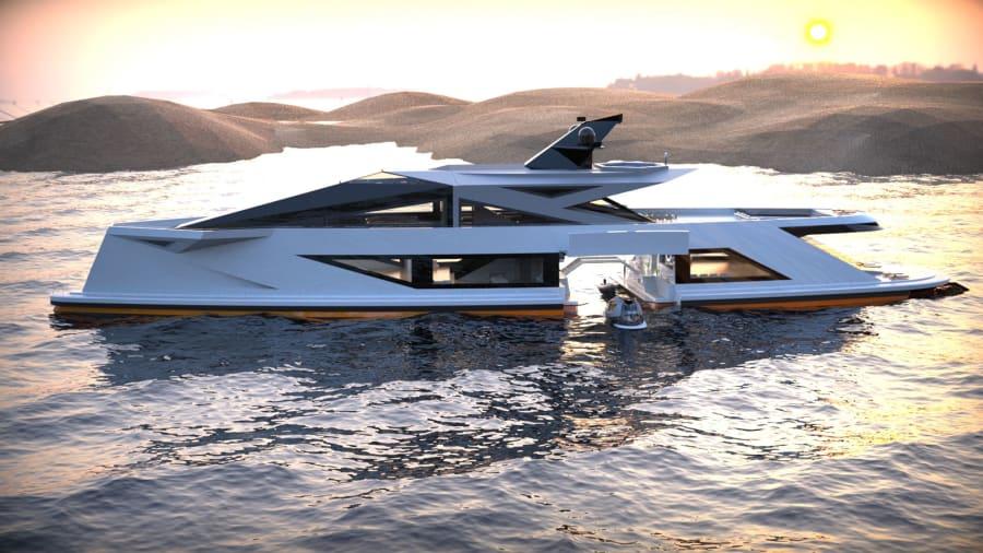 Saturnia-superyacht-concept --- pamje anësore --- Lazzarini-design-studio