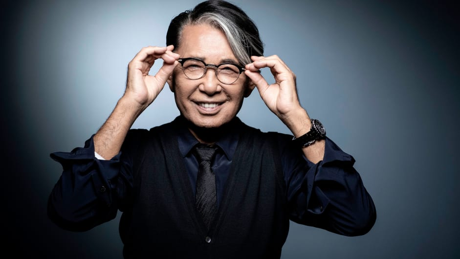 Kenzo Takada poses during a photo session in Paris on November 14, 2018.