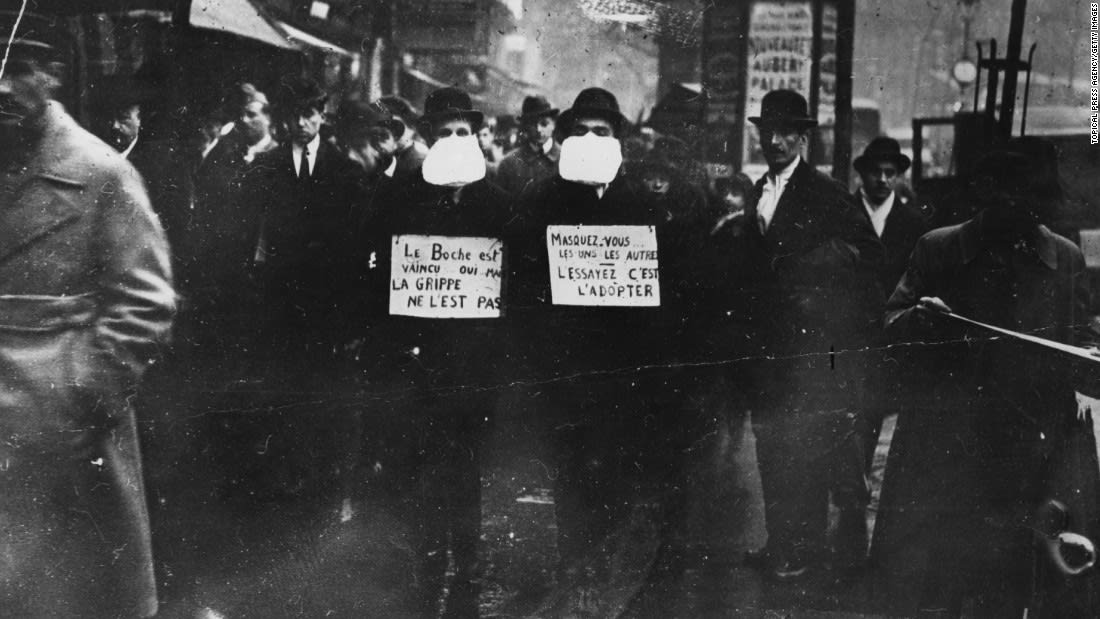 Deaths during the coronavirus surge in New York City recall the peak of the 1918 flu pandemic