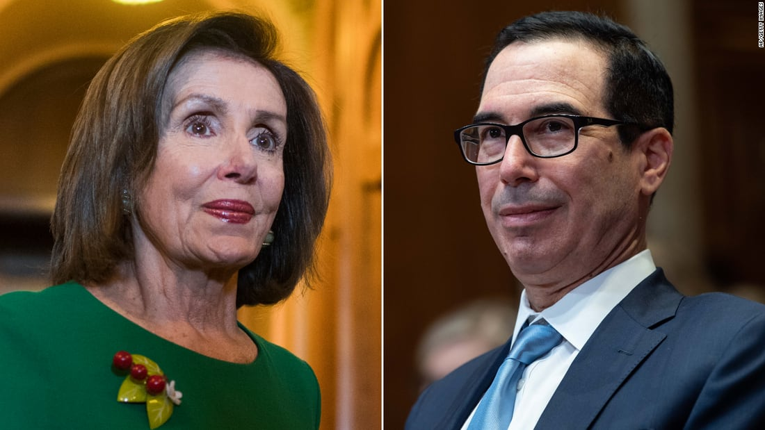 Pelosi and Mnuchin push for pre-Election Day stimulus deal as Democrats prepare new $2.2 trillion plan