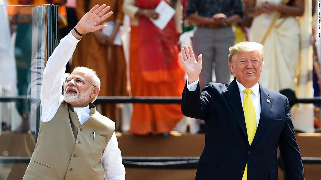 After spectacle, Trump and Modi turn to business