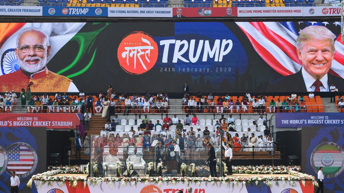 Trump lands in India ready to feel the love