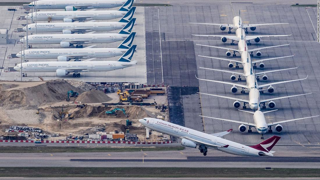 Cathay Pacific cuts 96% of all passenger flights