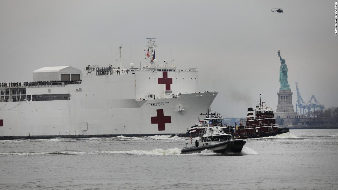 Crewmember aboard Navy ship dispatched to NYC tests positive for coronavirus