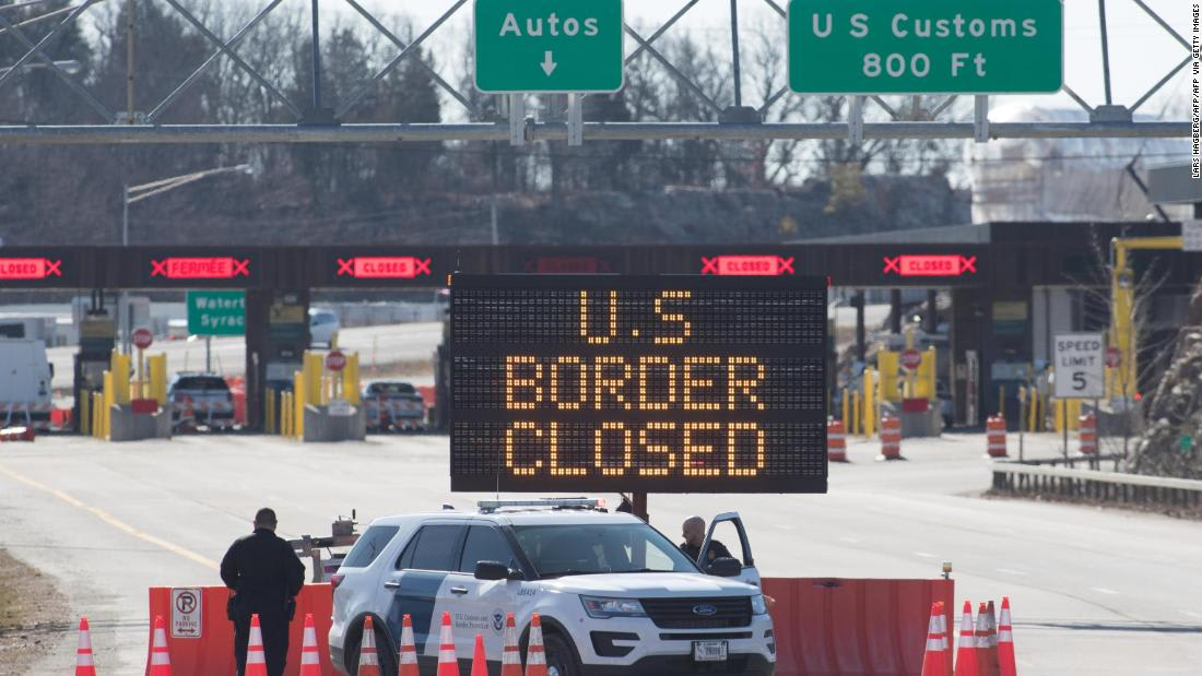 Trump administration to extend border and travel restrictions related to coronavirus