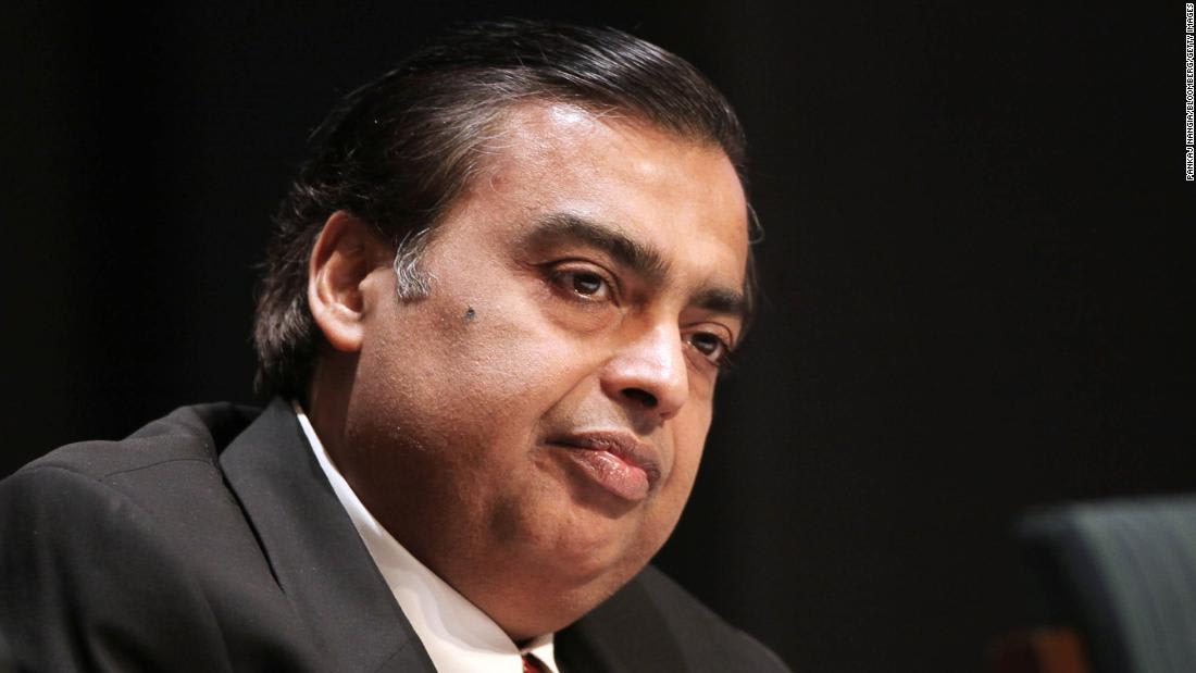 Indian billionaire Mukesh Ambani will forgo his salary until the pandemic eases