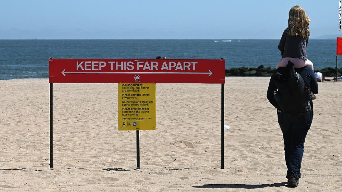 Coronavirus USA Some beaches will have police to enforce social distancing rules over Memorial Day weekend