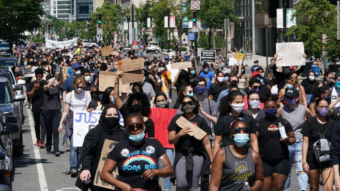 Health experts and state leaders fear coronavirus could spread rapidly during mass protests in US