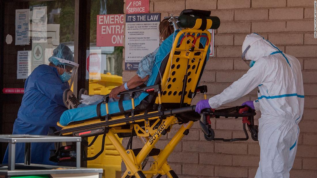 19 states see rising coronavirus cases and Arizona is asking its hospitals to activate emergency plans