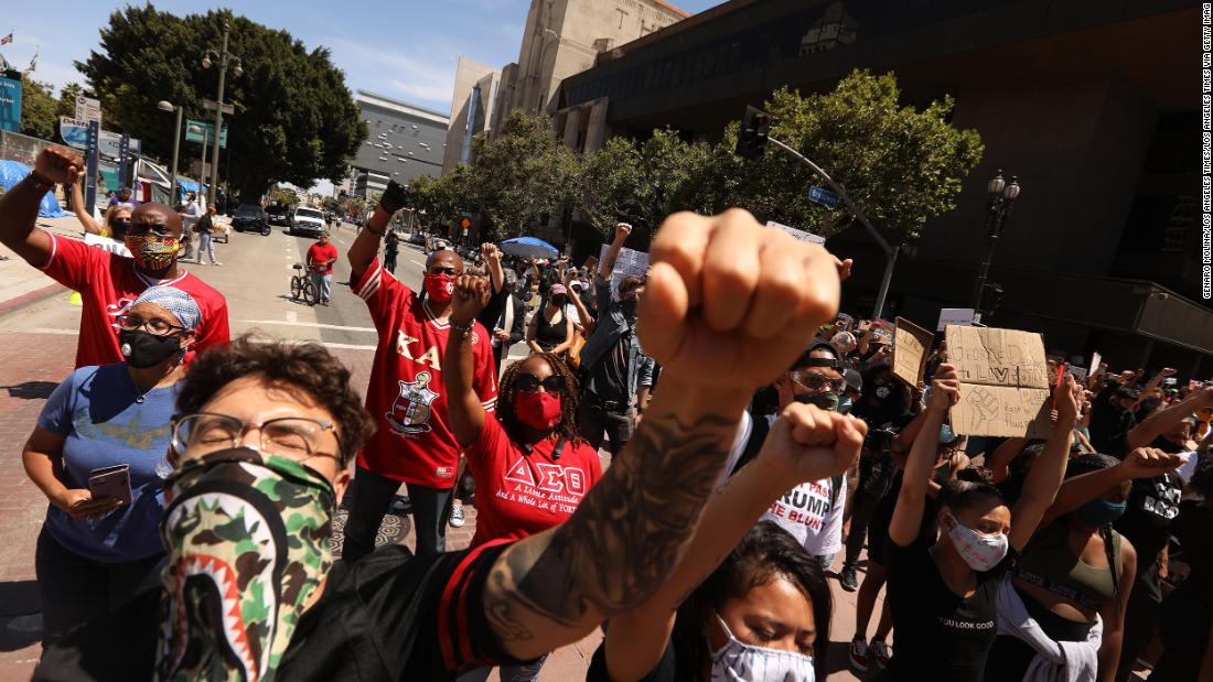 7 Los Angeles officers removed from their field duties after using excessive force during protests, police say