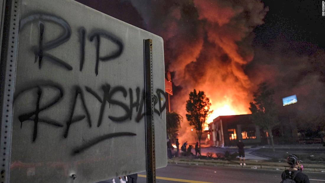 A charred Wendy's, an officer fired and a police chief steps down in the aftermath of Rayshard Brooks' death