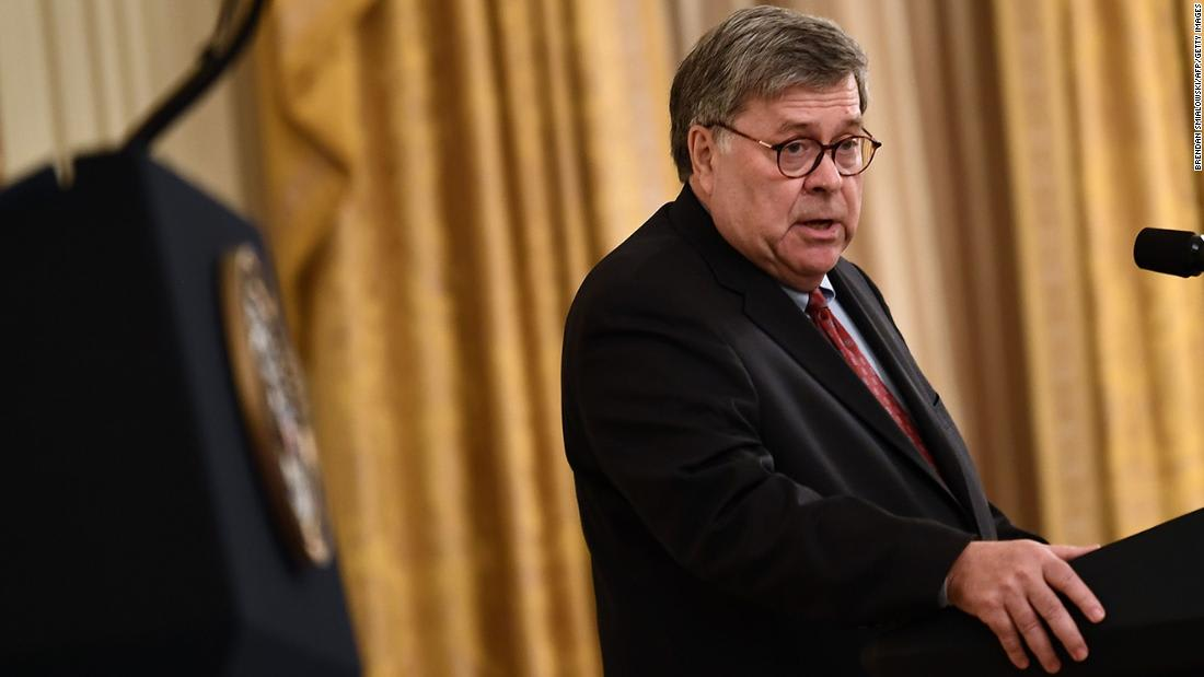 Barr attacks Justice Department staff, compares them to preschoolers