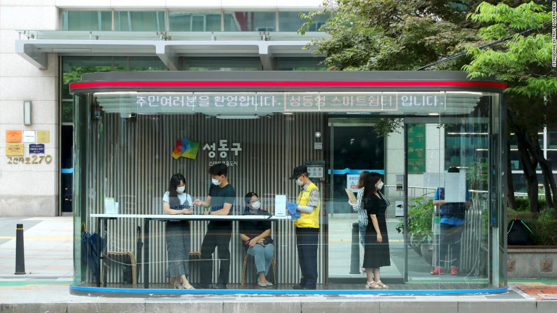 In the age of coronavirus, these new Seoul bus shelters refuse entry to anyone with a fever