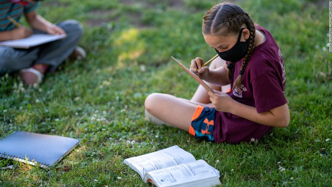 Outdoor classes are safer. How can teachers make it happen?