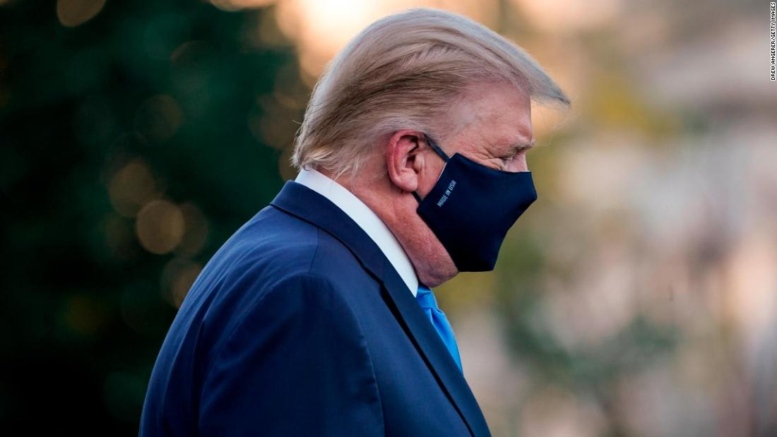 Analysis: Trump is hospitalized with Covid, but he's still not taking the pandemic seriously