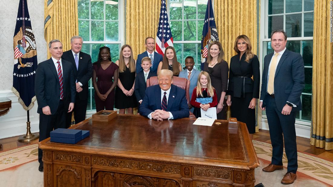 Photos: Inside Amy Coney Barrett's White House reception