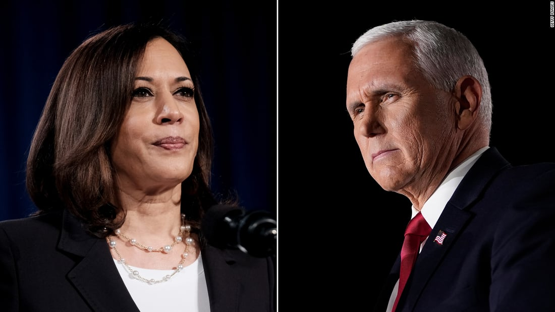 Pence and Harris meet for vice presidential debate as administration is gripped by Covid-19