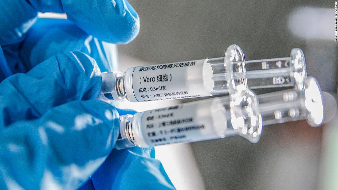 Almost a million people have been given an experimental Chinese coronavirus vaccine