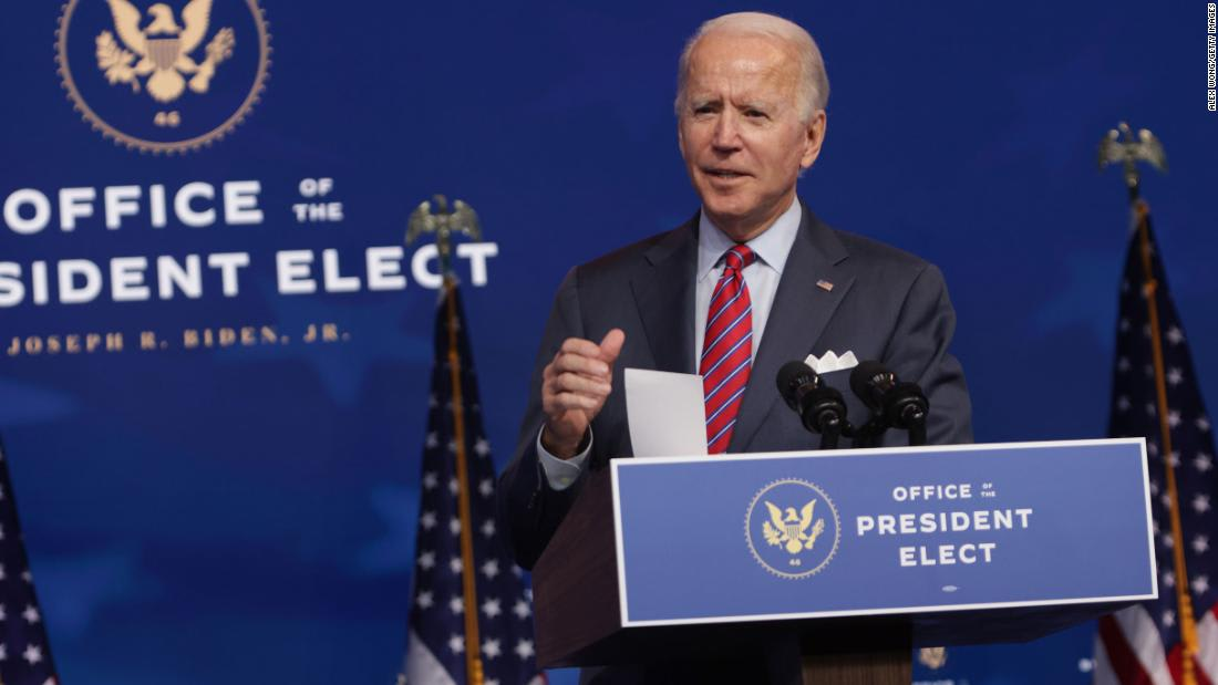 Biden details plan to combat coronavirus pandemic in first 100 days