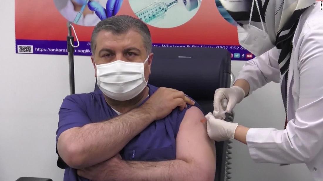 Turkey's health minister received China's Sinovac vaccine on live TV - CNN Video