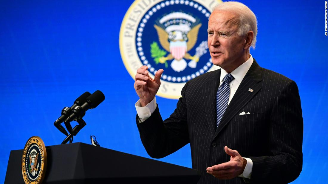 Biden raises the bar on vaccines and suggests US will get to 1.5 million a day