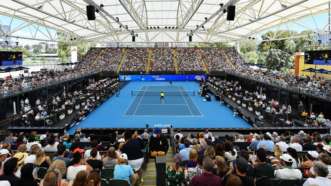 Maskless crowds pack Australian Open tennis exhibition in Covid-free Adelaide