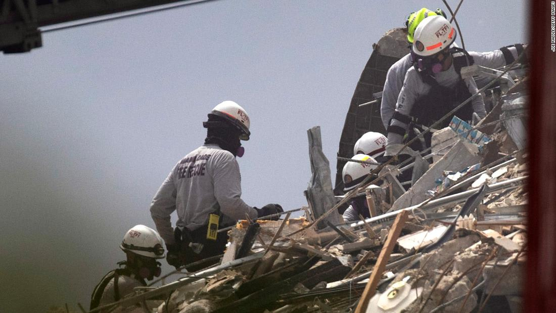 Some families frustrated by pace of search and rescue efforts in Florida building collapse
