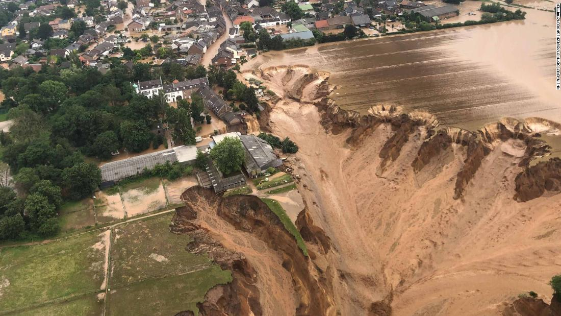 Germany's worst rainfall in a century leaves dozens dead and hundreds missing, authorities say