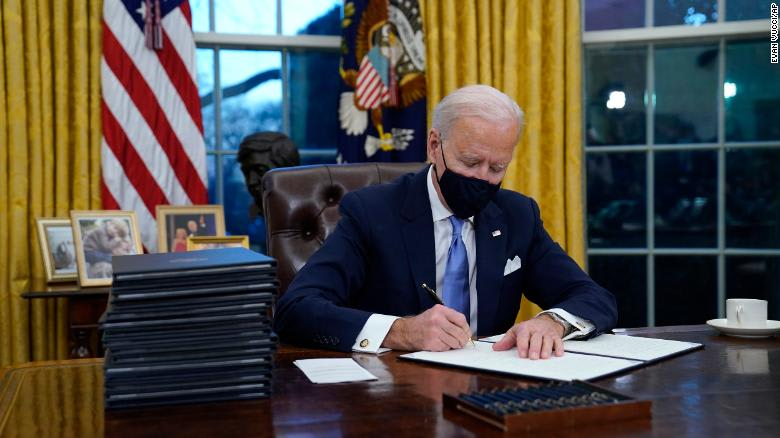 Here are the executive actions Biden has signed so far