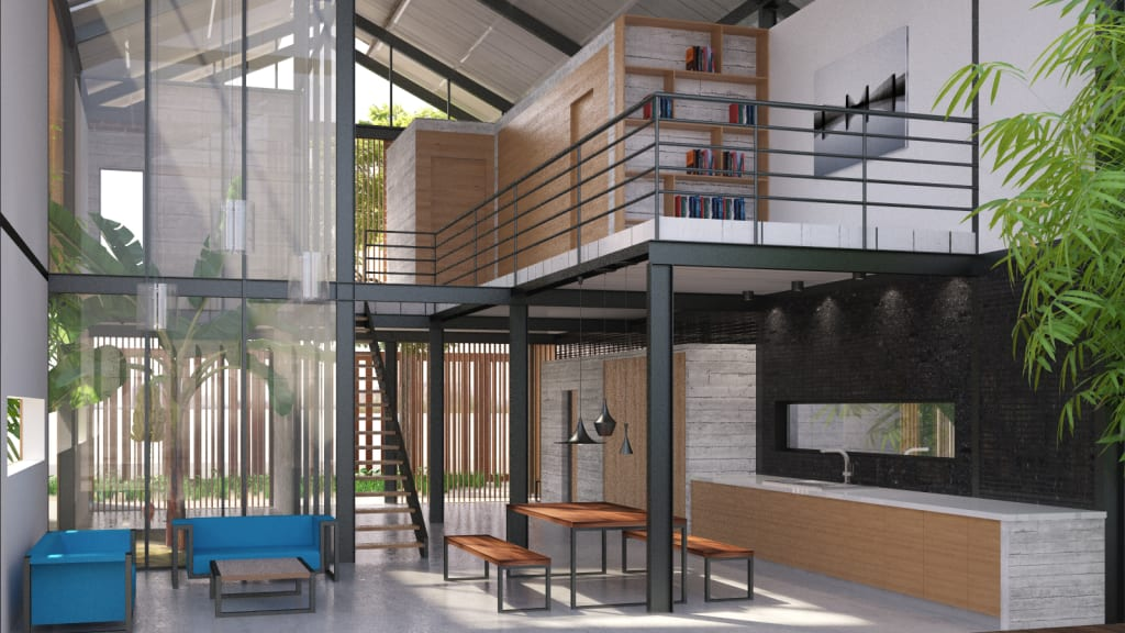T3 Architecture Asia Bioclimatic Green Industrial House