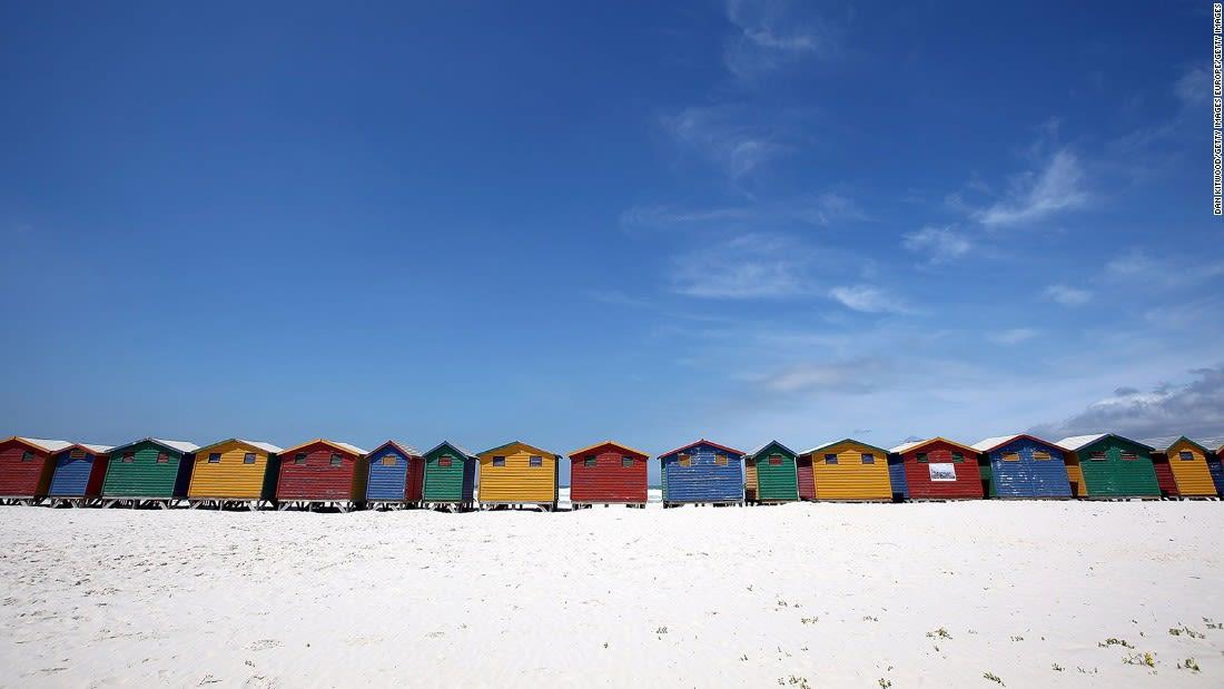 Colorful places Muizenburg Cape Town-93347120