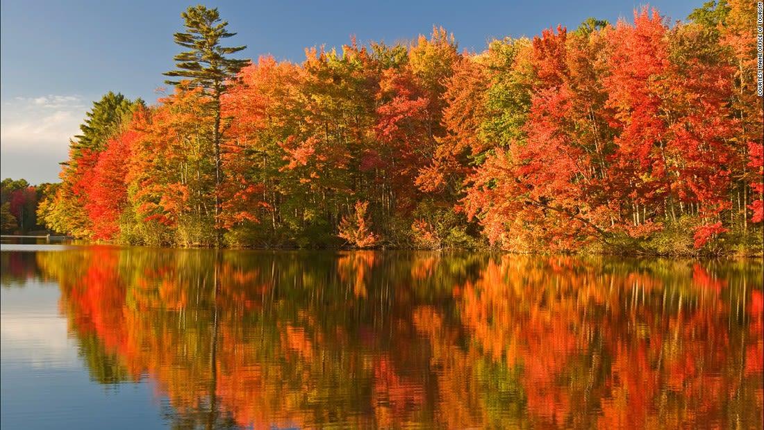 Colorful places Maine Fall Foliagesm