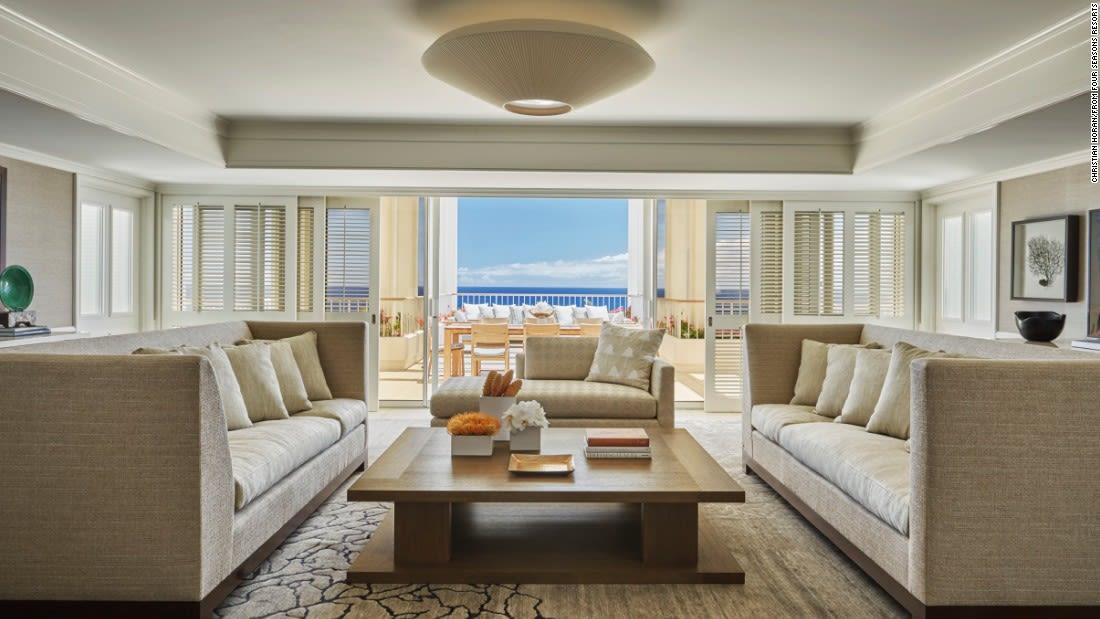 penthouse suites four seasons ko olina living room