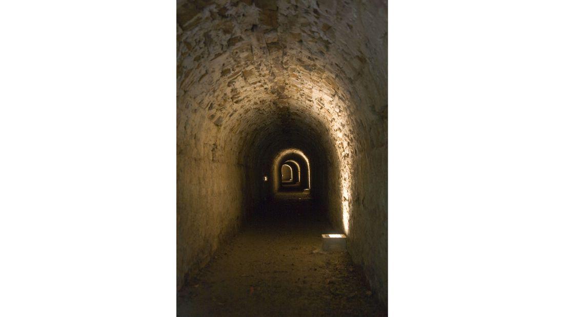 Tunnel, Château de Brissac, Angers, France