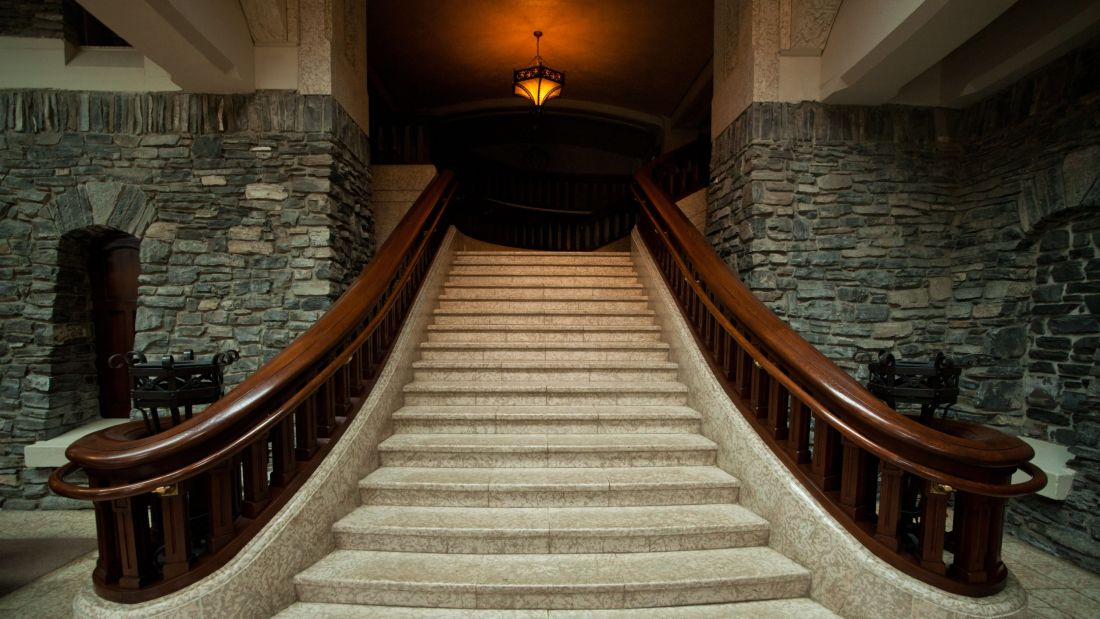 Marble staircase, Banff Springs Hotel, Banff, Canada