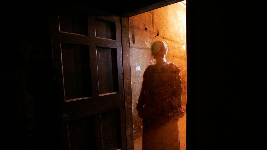Ghostly figure, Mary King's Close, Edinburgh, UK
