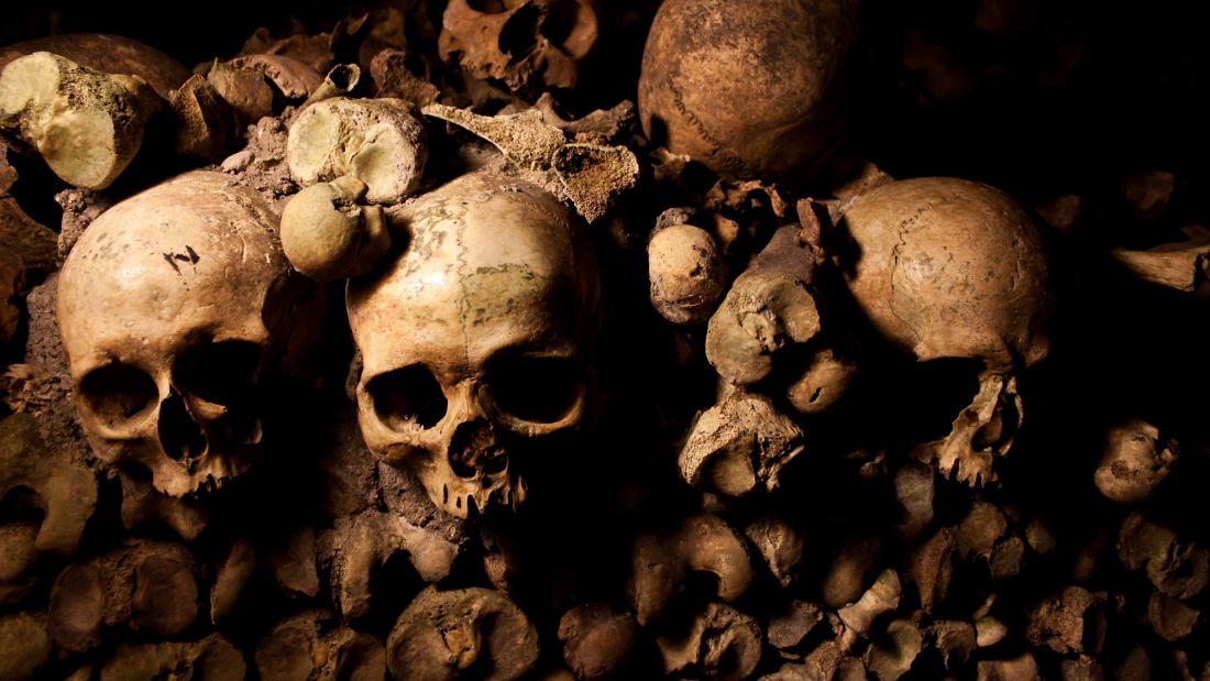 Skulls, Catacombs, Paris, France