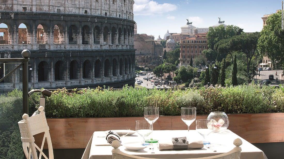 Rome al fresco dining Palazzo Manfredi AROMA Day