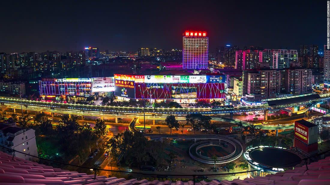 DW-Xiamen-Cycling Skyway Ruijing-night-panorama