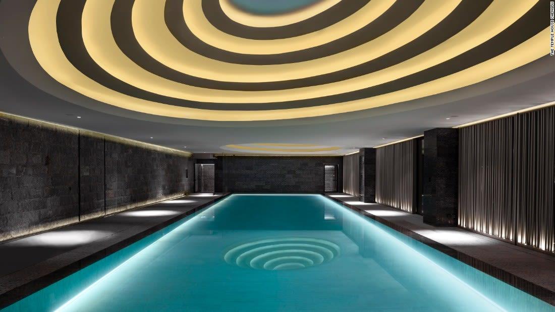 spectacular pools temple house chengdu