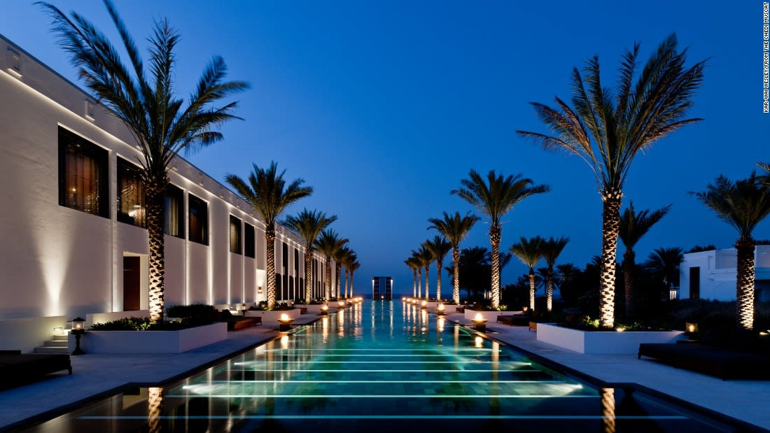 spectacular pools chedi muscat