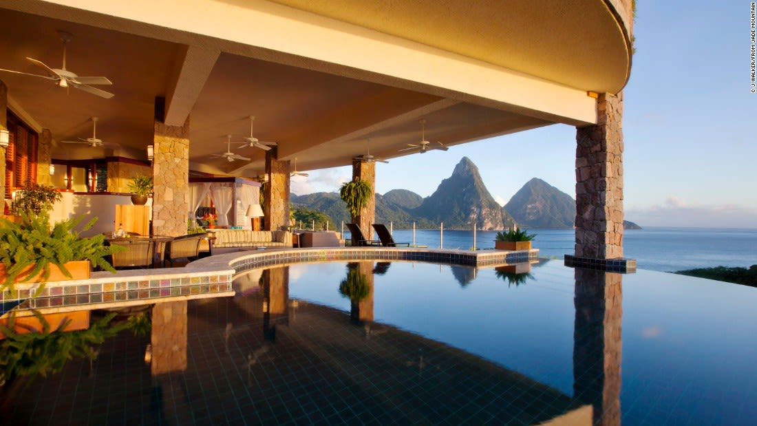 spectacular pools jade mountain st lucia