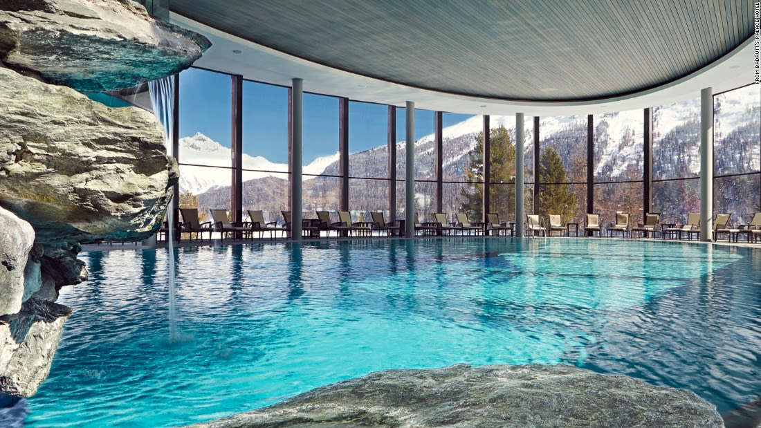 spectacular pool badrutts switzerland
